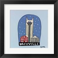 Framed Nashville Snow Globe