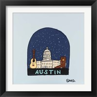 Framed Austin Snow Globe