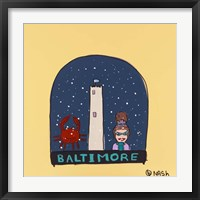 Framed Baltimore Snow Globe