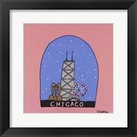 Framed Chicago Snow Globe