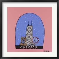 Framed Chicago Snow Globe