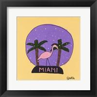 Framed Miami Snow Globe