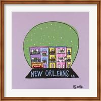 Framed New Orleans Snow Globe