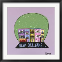 Framed New Orleans Snow Globe