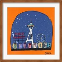 Framed Seattle Snow Globe