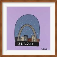 Framed St. Louis Snow Globe