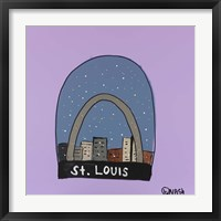 Framed St. Louis Snow Globe