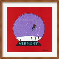 Framed Vermont Snow Globe