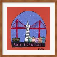 Framed San Francisco Snow Globe