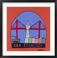Framed San Francisco Snow Globe