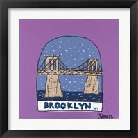 Framed Brooklyn Snow Globe