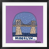 Framed Brooklyn Snow Globe