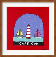 Framed Cape Cod Snow Globe