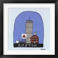 Framed Boston Snow Globe