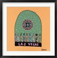 Framed Las Vegas Snow Globe