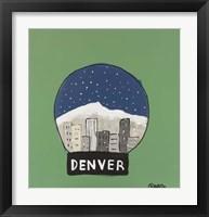Framed Denver Snow Globe