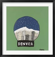 Framed Denver Snow Globe