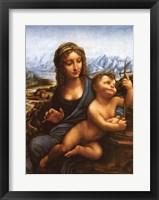 Framed Madonna of the Yarnwinder