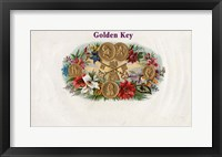 Framed Golden Key
