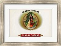 Framed Senora Cubana