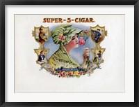 Framed Super-5-Cigar