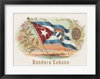 Framed Bandera Cubana