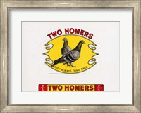 Framed Two Homers