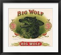 Framed Big Wolf