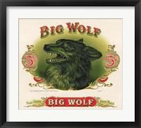 Framed Big Wolf