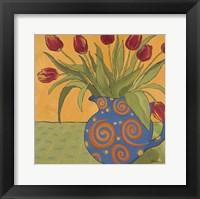 Framed Red Tulips