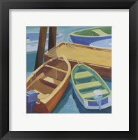 Framed Boats At The Dock