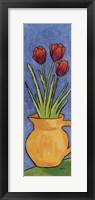 Framed Tulips In Yellow Vase