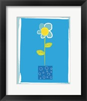Framed Blue Flower in Blue Pot