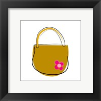 Framed Brown Purse