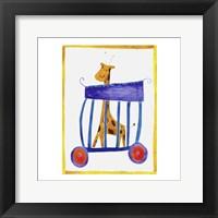 Framed Circus Giraffe