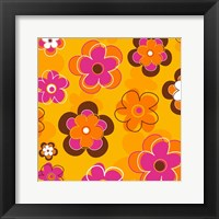 Framed Floral on Orange