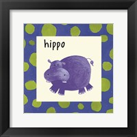Framed Hippo with Border