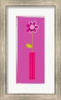 Framed Pink Flower in Pink Pot
