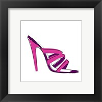 Framed Pink High Heel Sandal
