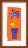 Framed Purple Flower in Purple Pot