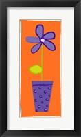 Framed Purple Flower in Purple Pot