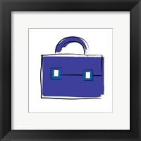 Framed Purple Purse 1