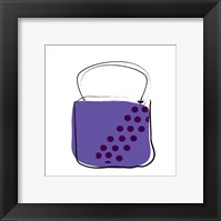 Framed Purple Purse 2