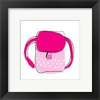 Framed Red and Pink Purse