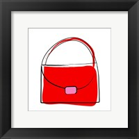 Framed Red Purse
