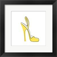 Framed Yellow High Heel Sandal