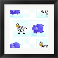 Framed Zebras and Hippos