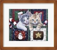 Framed Christmas Calendar Kittens