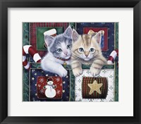 Framed Christmas Calendar Kittens