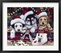 Framed Tail Wagging Christmas
